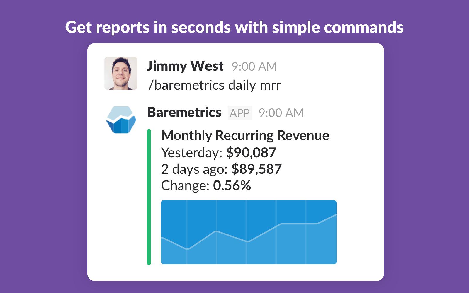 Baremetrics Slack app