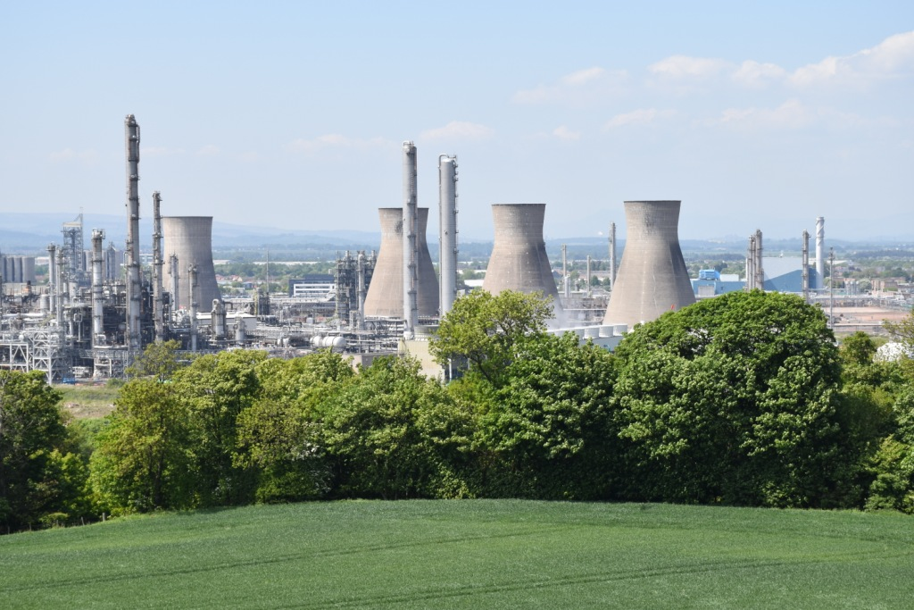 Grangemouth site from Inveravon Hill May 2018