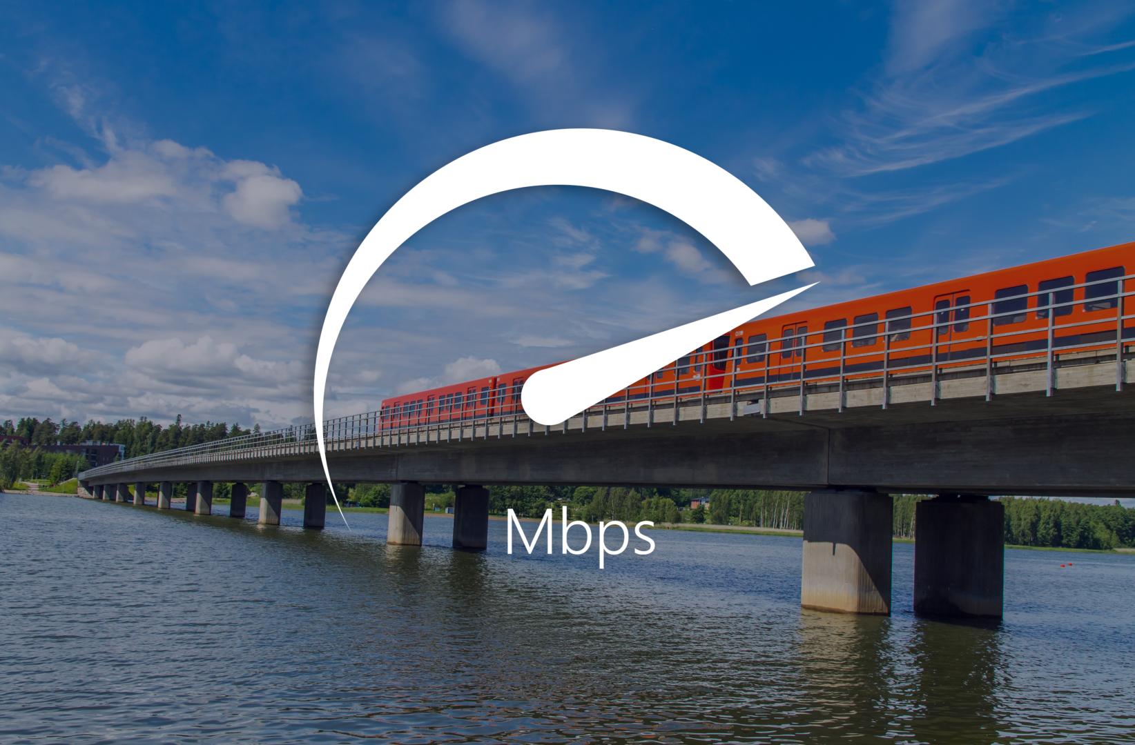 Mobile Data Speeds in the Helsinki Area Metro 2018
