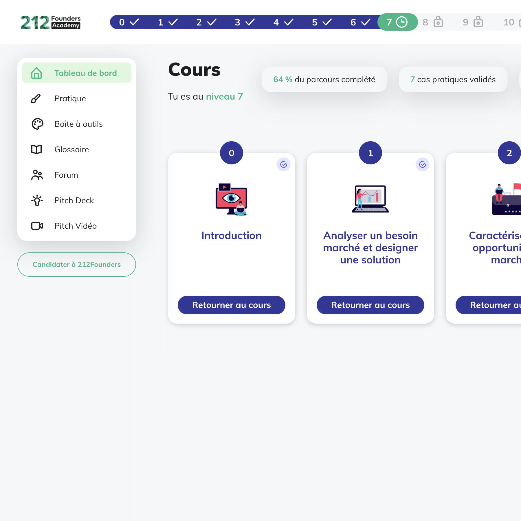 Screenshot plateforme