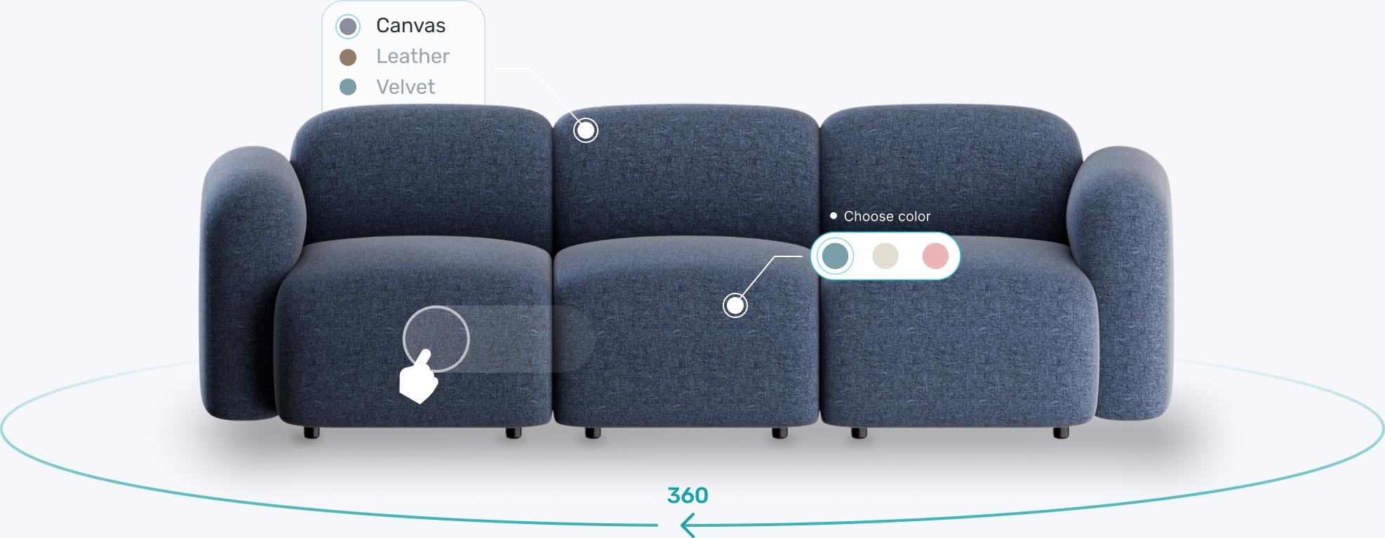 3D sofa image