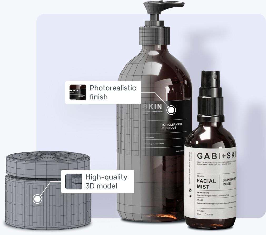 3D product visualisation image