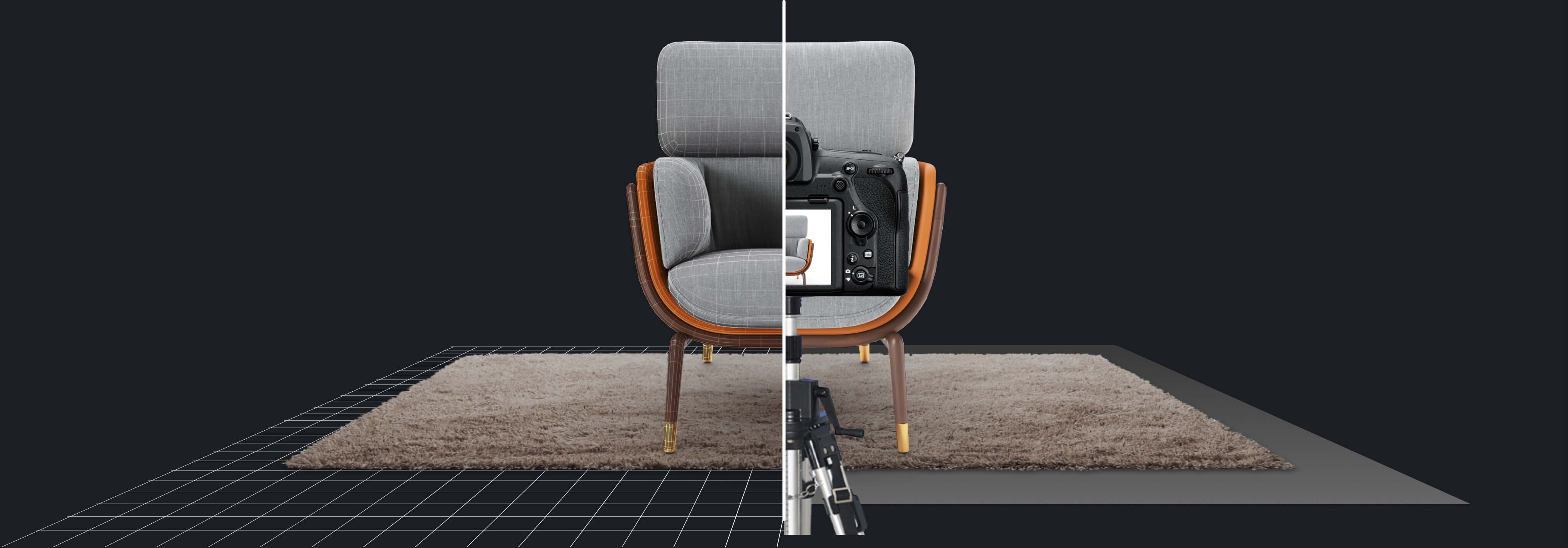 3D virtual photography is 6x cheaper than traditional photography. Comparison image from ARsenal by CGtrader