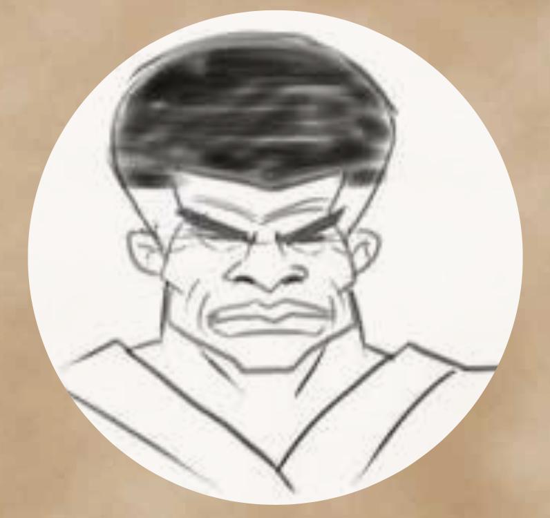 A portrait of Master Po