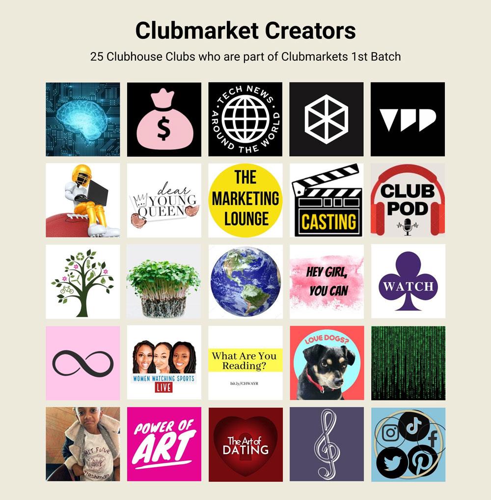 Clubmarket Creator 25 List