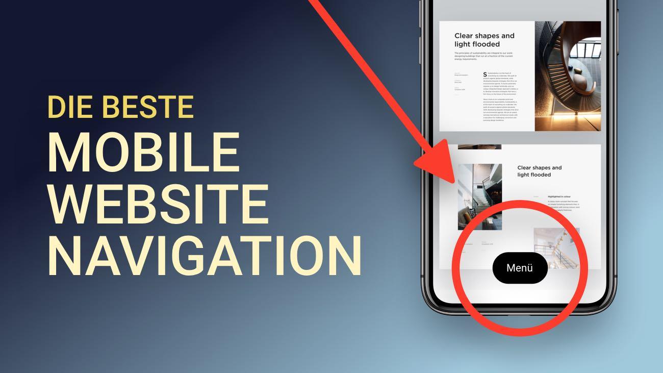 Eine nutzerfreundliche Mobile Website Navigation erstellen (gute UX!)