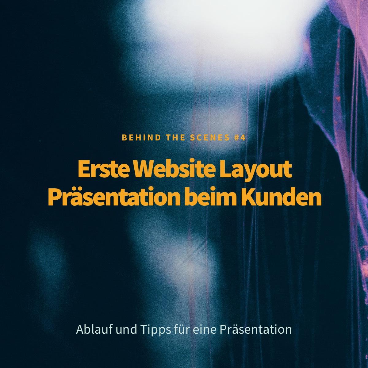 Erste Website Layout Präsentation beim Kunden (Teil 4)