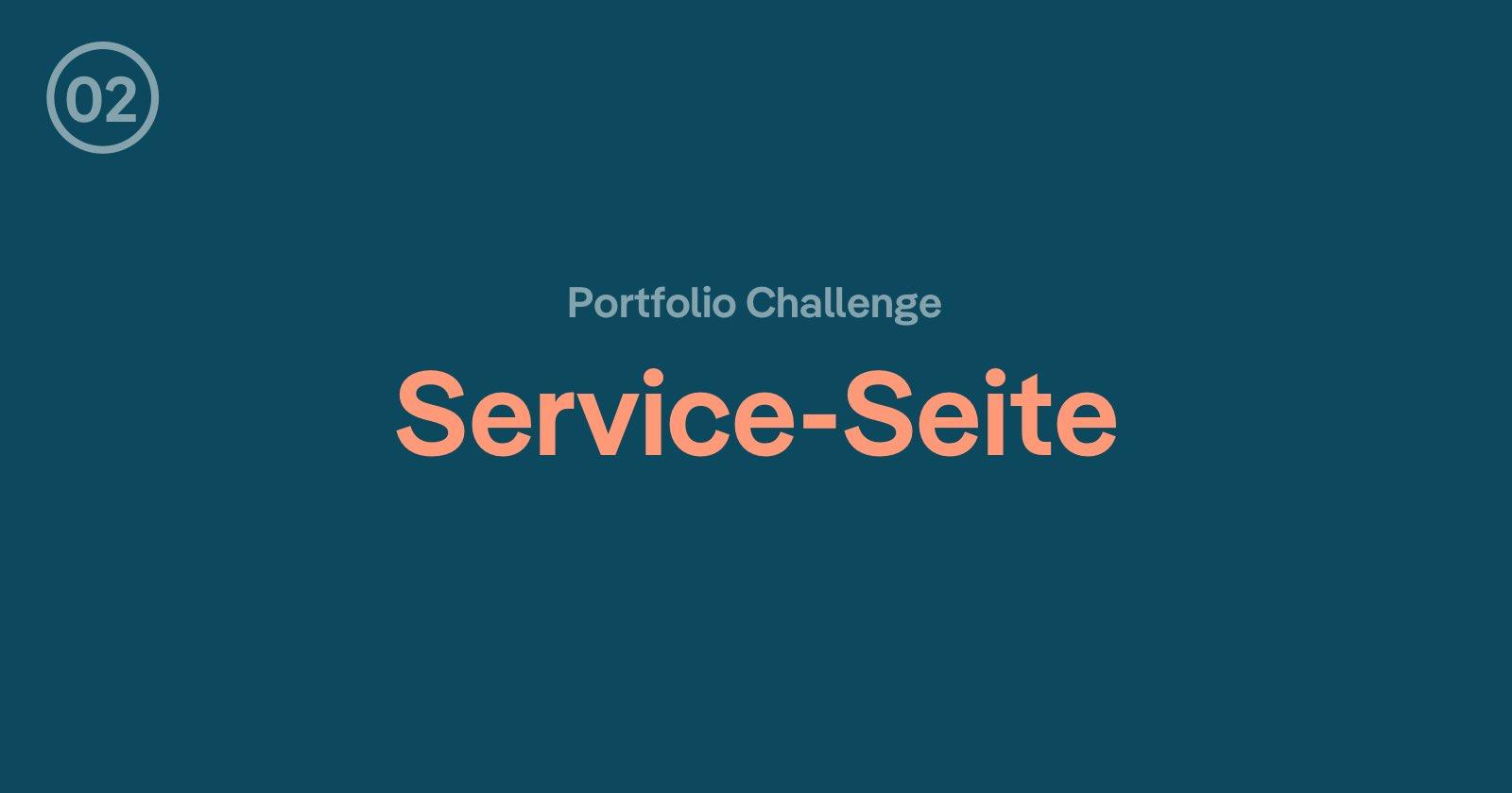 Webdesign Portfolio Challenge: Die Service-Seite