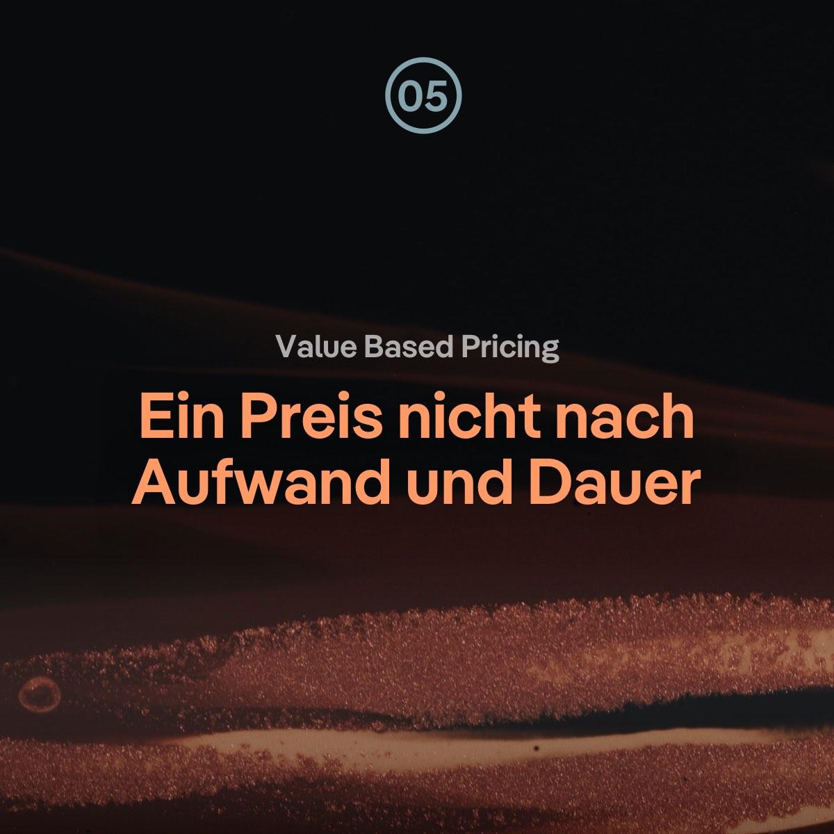VBP: Webdesign Preis nicht nach Aufwand und Dauer sondern nach Zielen