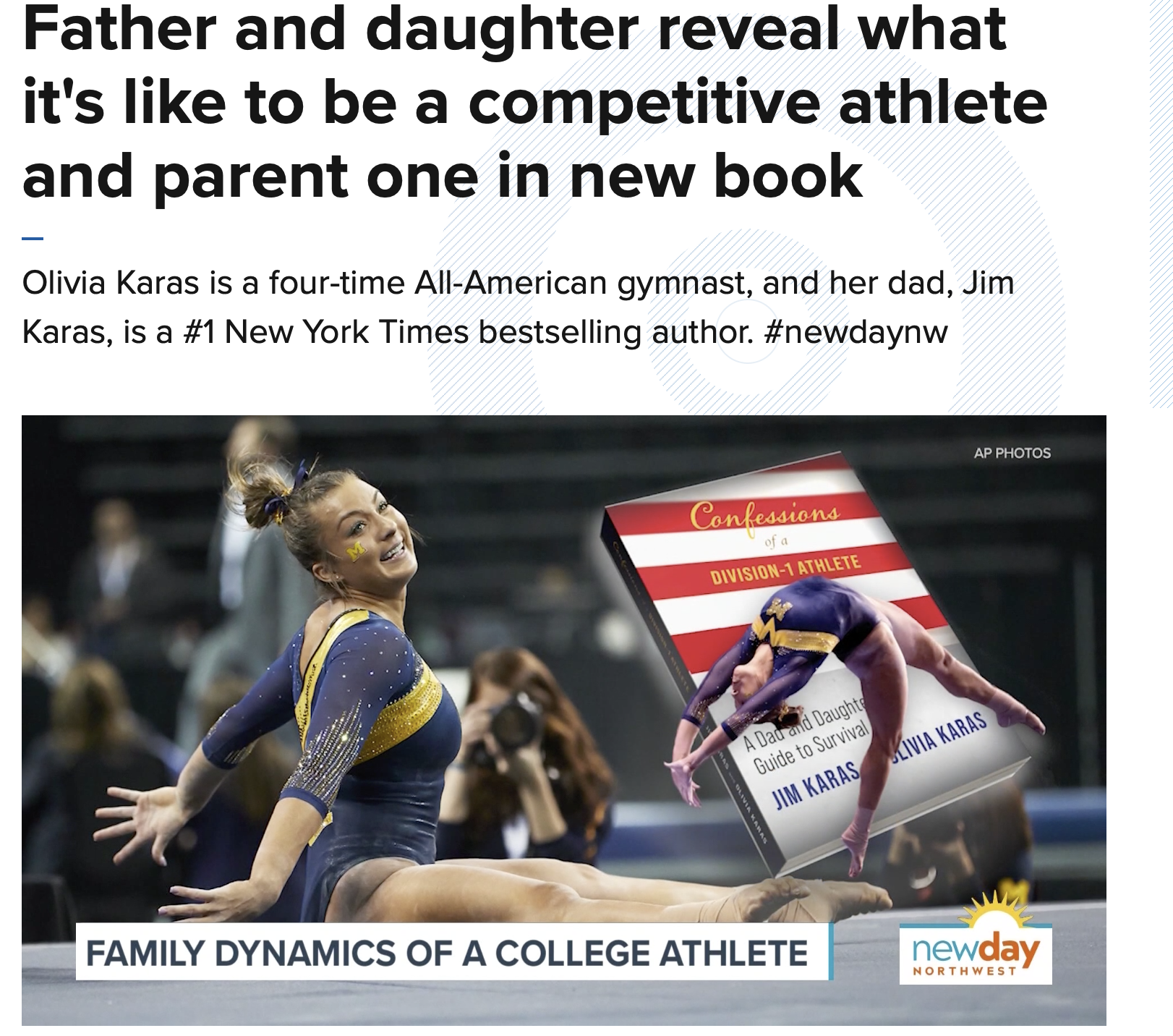 Father and daughter reveal what it's like to be a competitive athlete and parent one in new book.