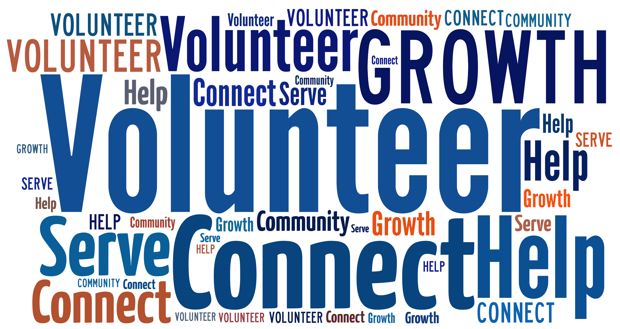 Graphic Image with Volunteer Collage