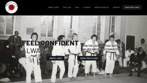 screenshoot of web design project for Northampton Judo Club