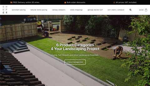 screenshoot of web design project for online landscaping shop