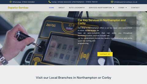 screenshoot of web design project for car locksmith