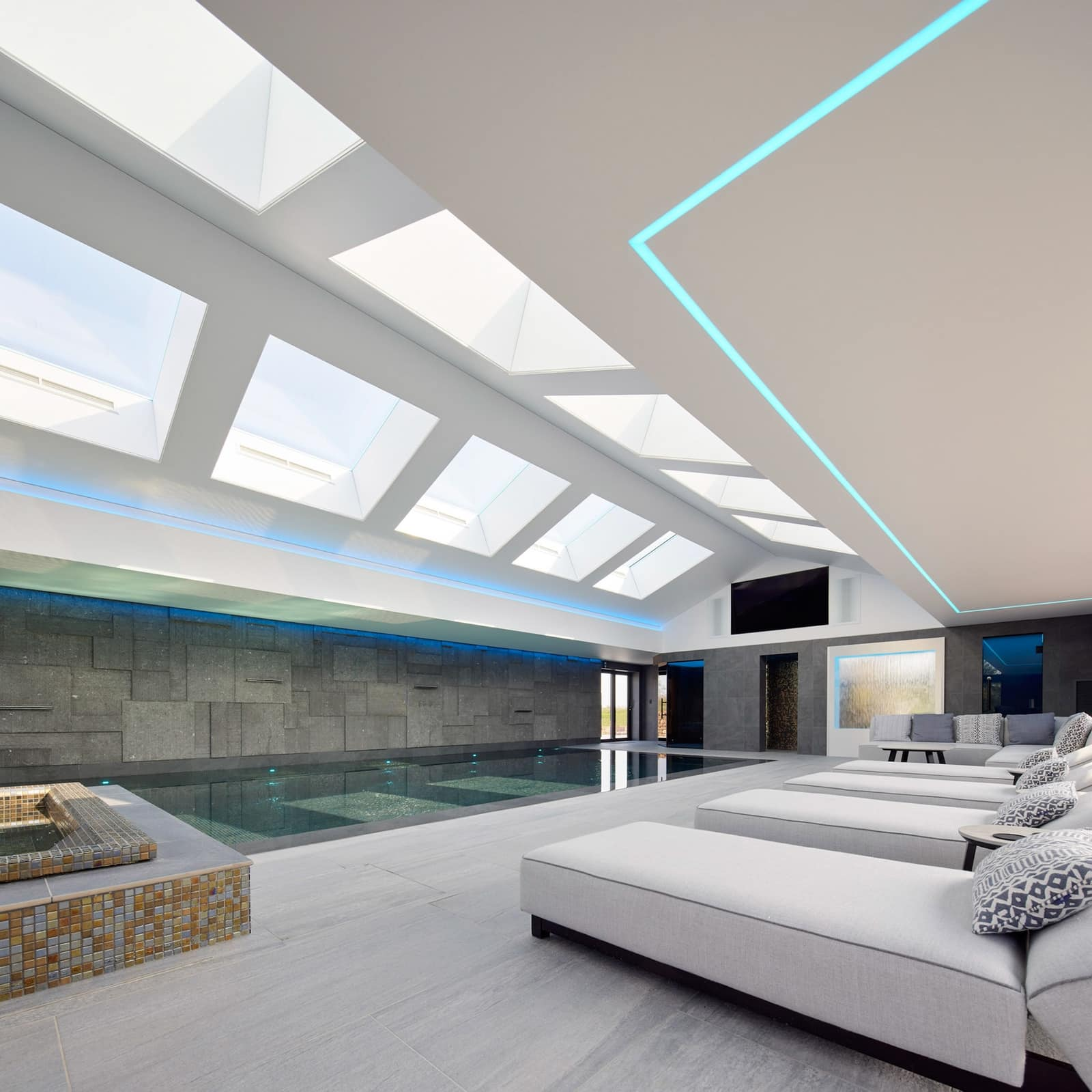 Architectural Photography Interior image of High End Pool in a private house