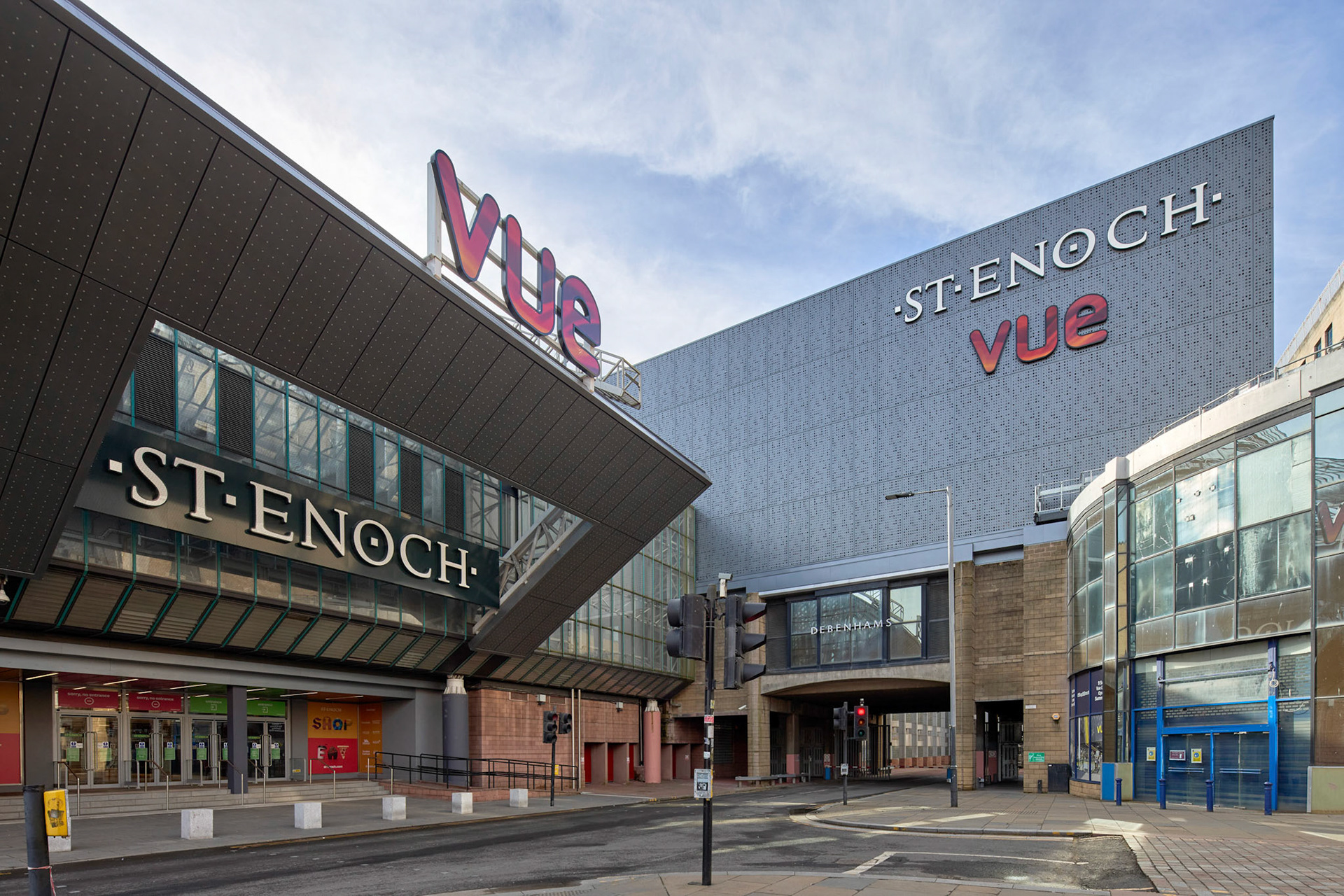 Architectural Photography St Enoch Glasgow Vue cinema roof side entrance