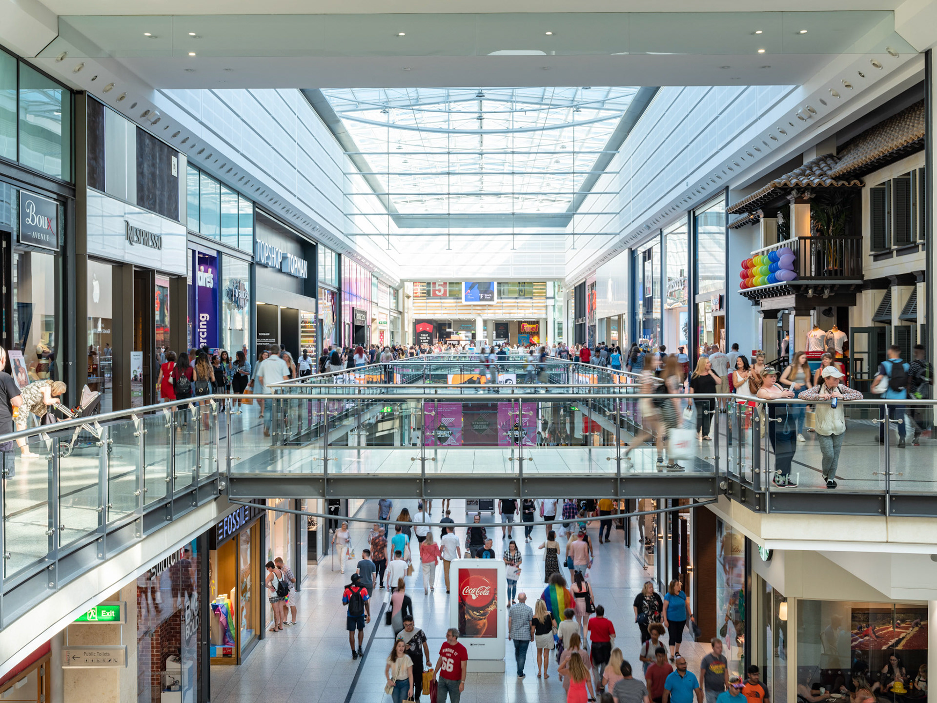 Architecture Photography Manchester Arndale Centre interior with lots of people