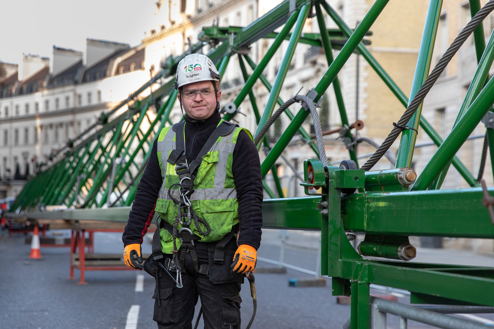 Industrial Photography Portrait of Worker onsite look straight at camera