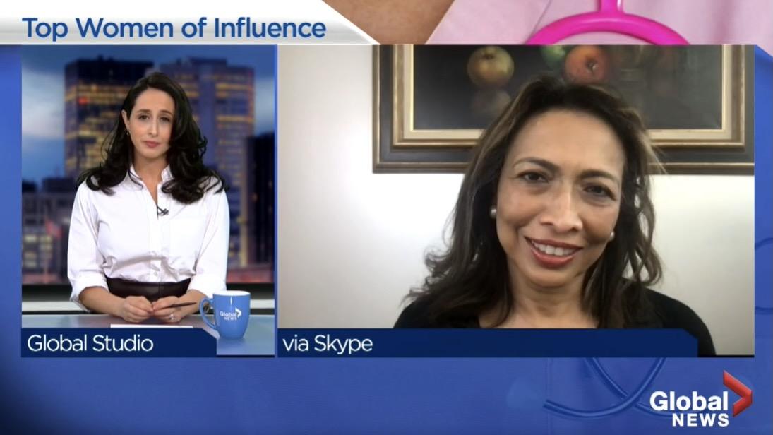 Screenshot: news interview