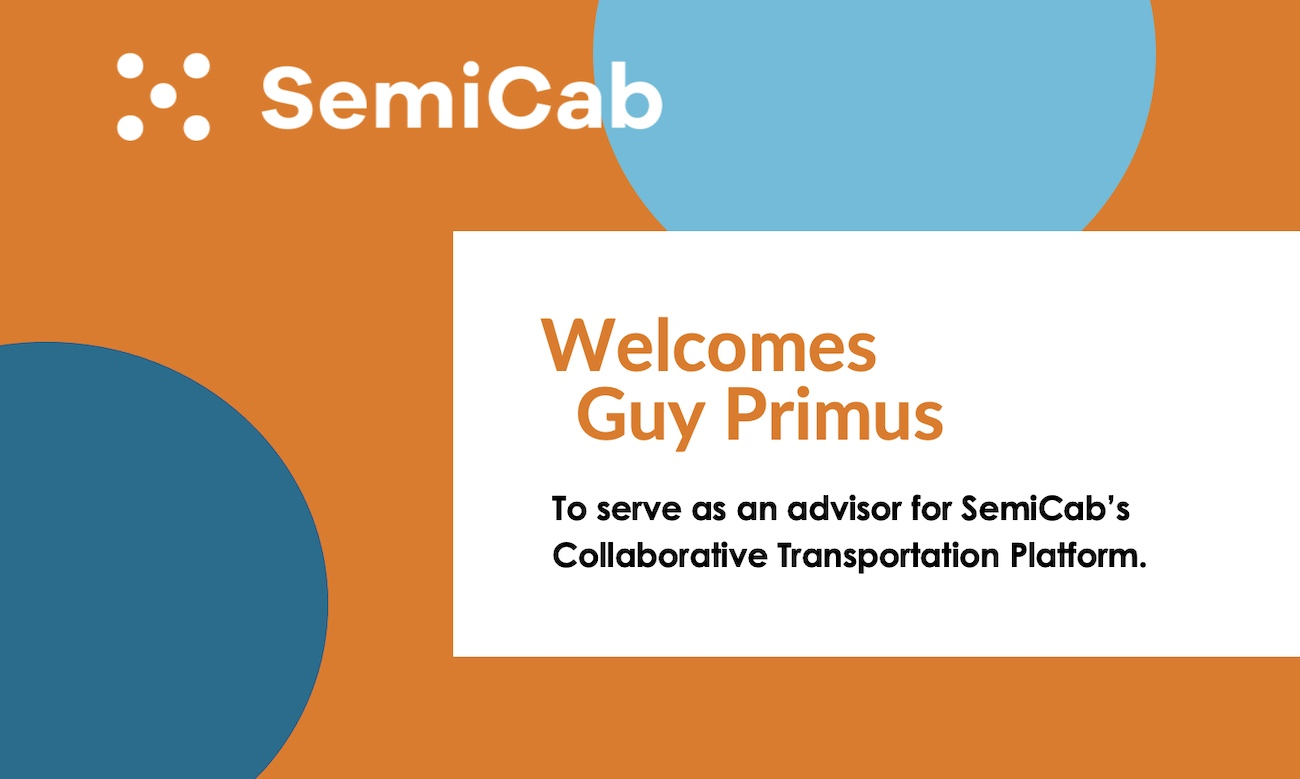 We're excited to welcome Guy Primus onto our advisory board to support our mission to deliver a Collaborative Transportation Platform that eliminates empty miles, reduces the nation's carbon footprint, and creates new economic value across the transportation network.