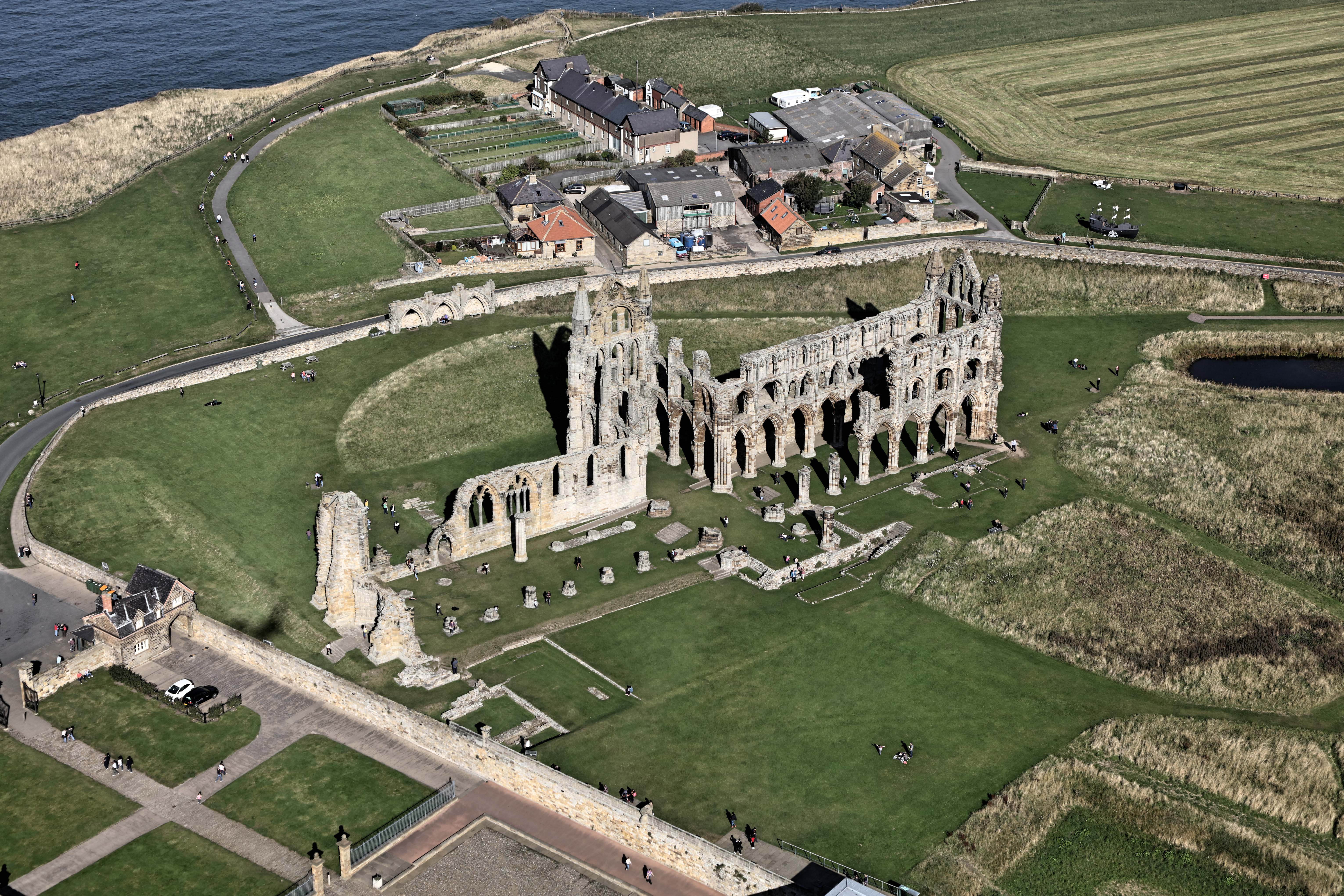 Whitby Abbey Aerial View