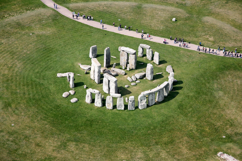 Stonehenge Close Aerial Photograph