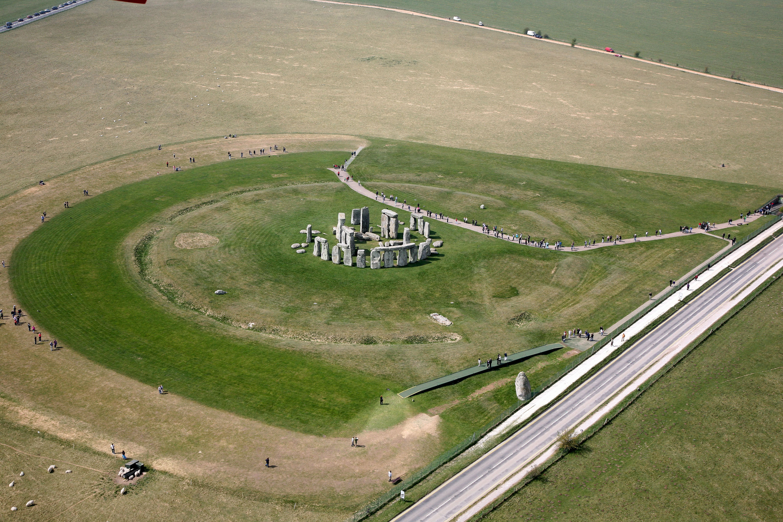 Stonehenge Site Aerial Photograph