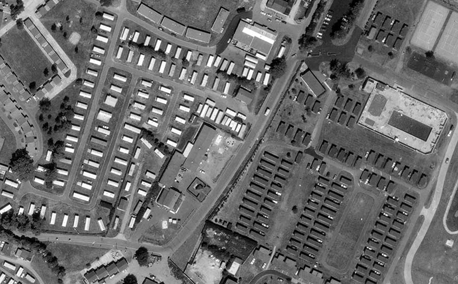 Example of an old aerial photo available from Air Images.
