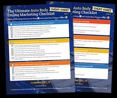 Auto Body Marketing Checklist