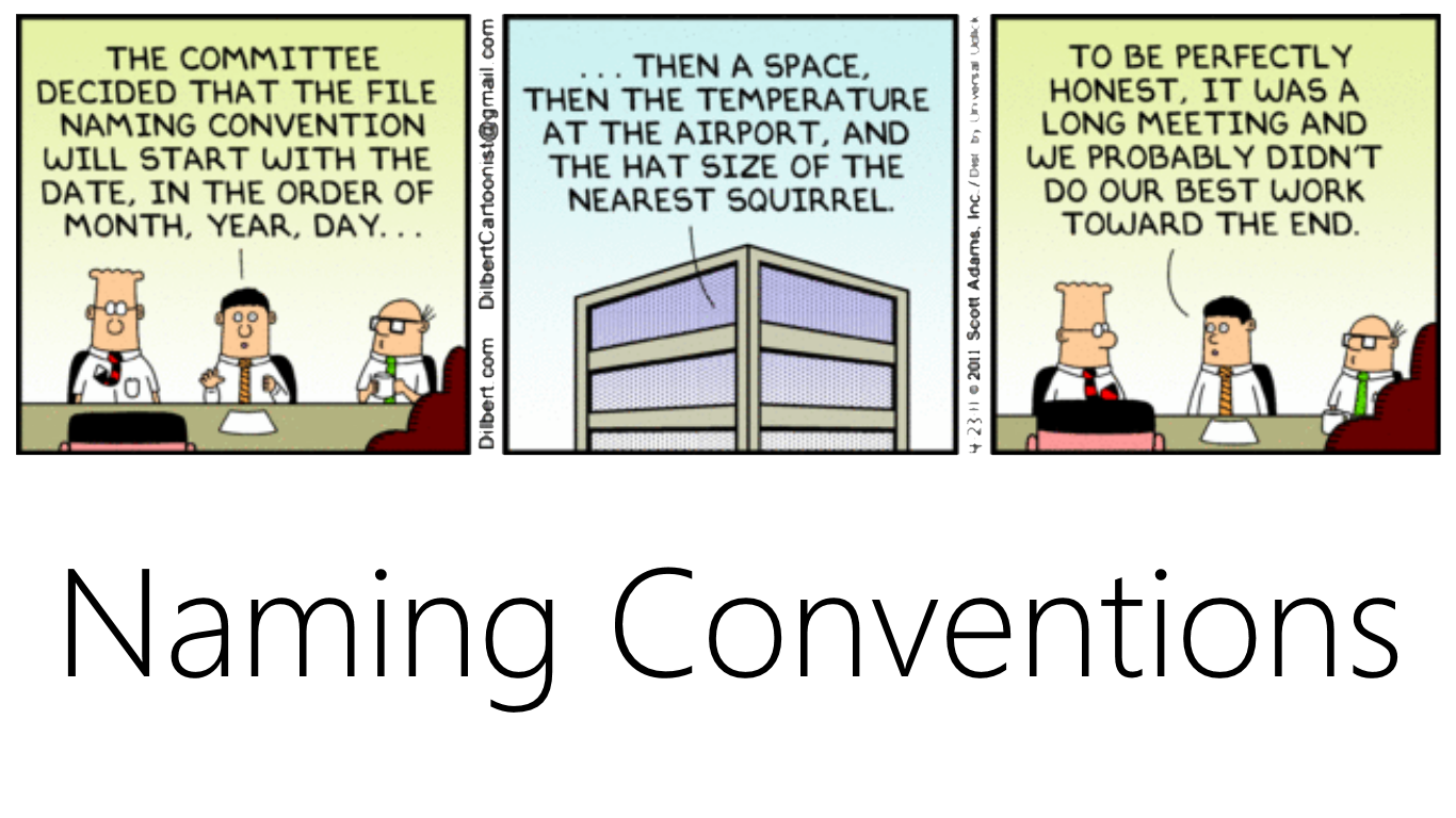 Naming Conventions for databases