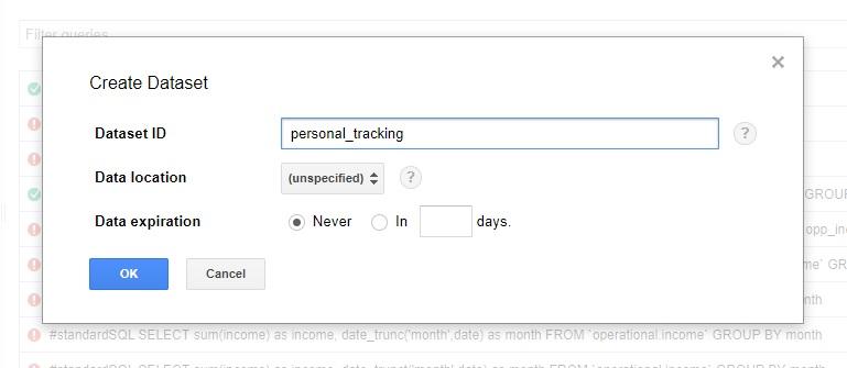 steps to push google sheets into bigquery