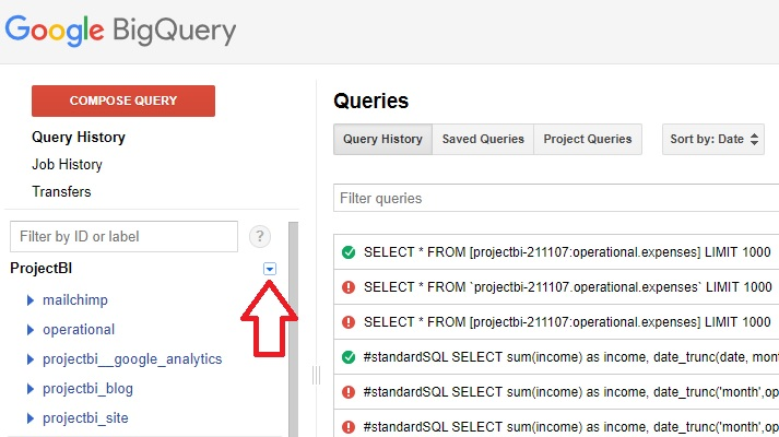 how to push google sheets into bigquery