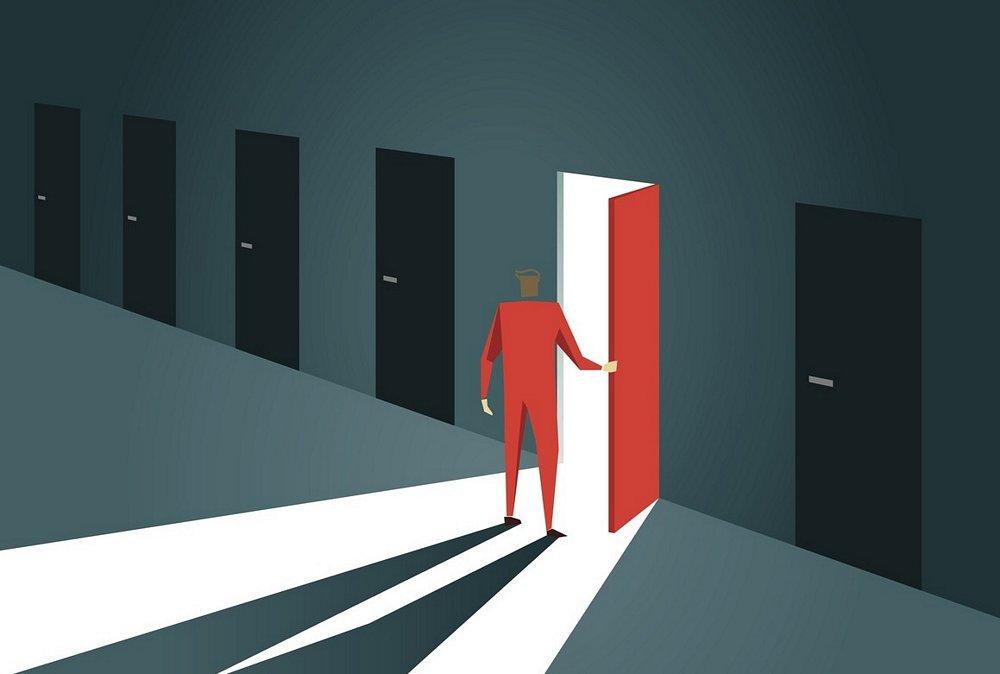 One door opens another closes