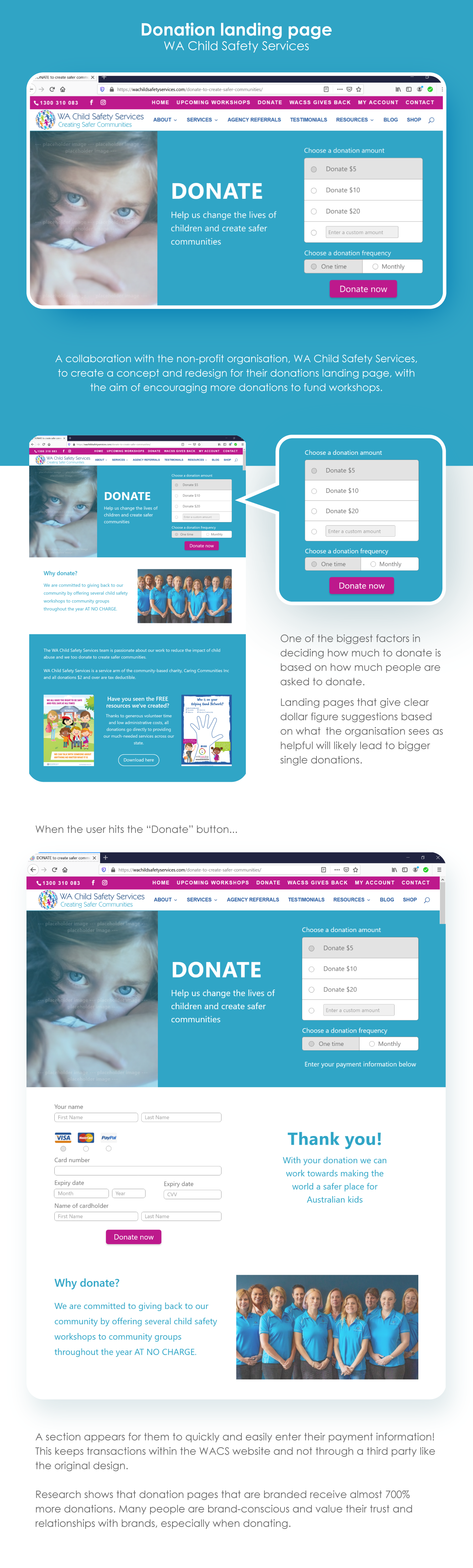 Image detailing the WA Child safety services landing page