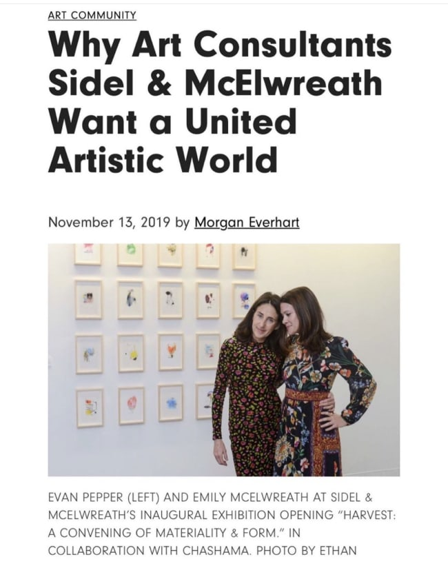 WHY ART CONSULTANTS SIDEL & MCELWREATH WANT A UNITED ARTISTIC WORLD