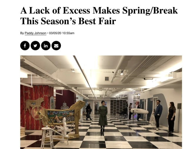 A LACK OF EXCESS MAKES SPRING/BREAK THIS SEASON'S BEST FAIR