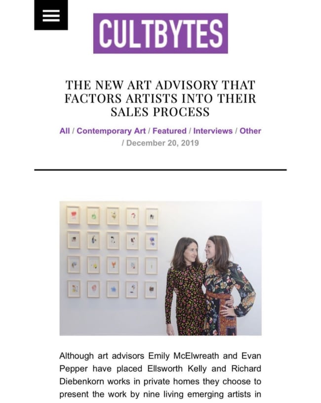 THE NEW ART ADVISORY THAT FACTORS ARTISTS INTO THEIR SALES PROCESS