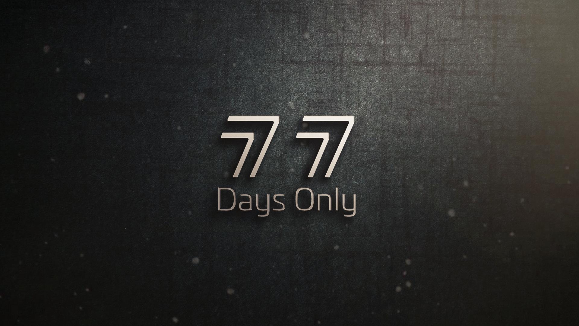 77 Days Only logo mock up