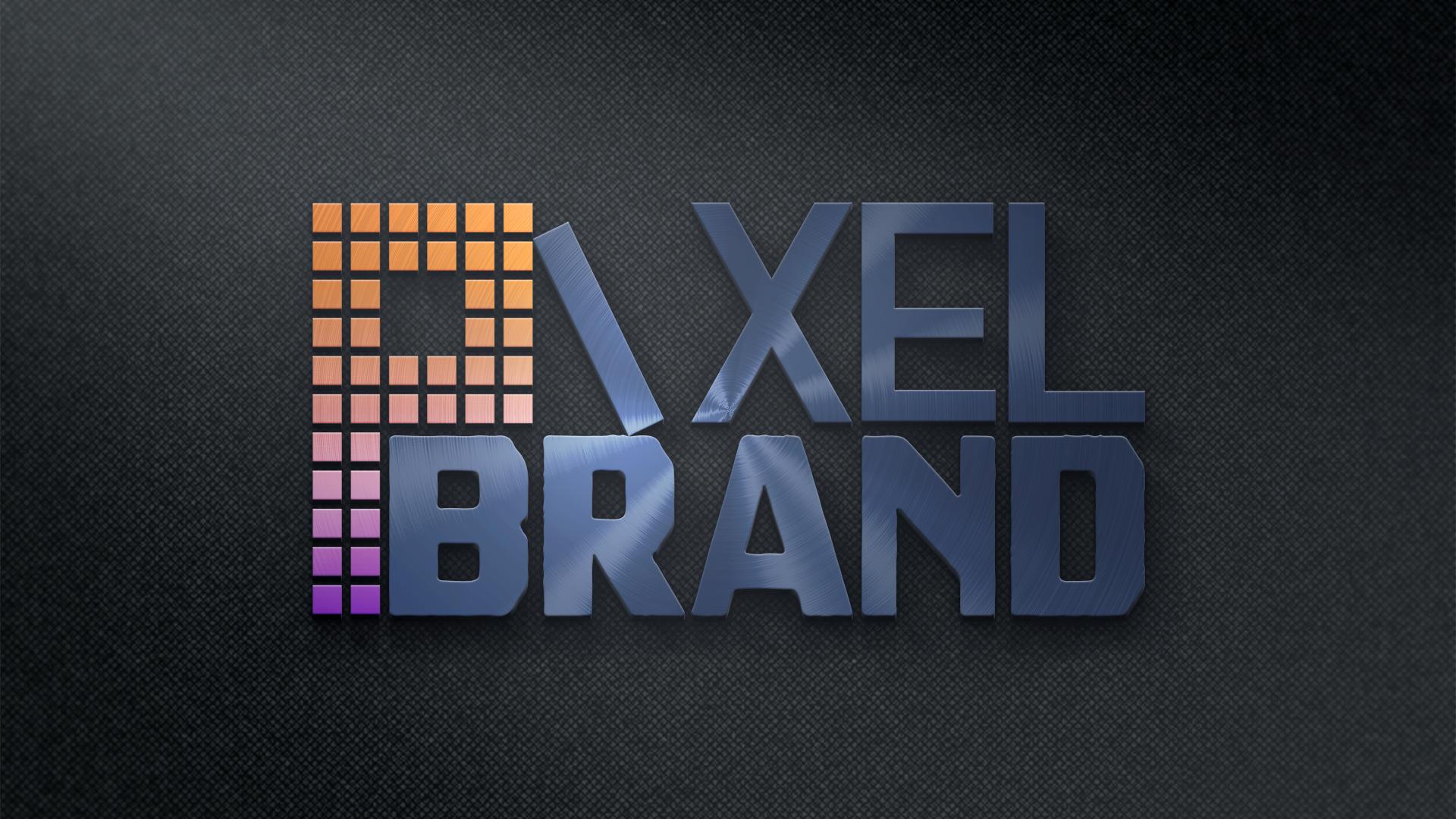 Pixel Brand's 3D metal logo