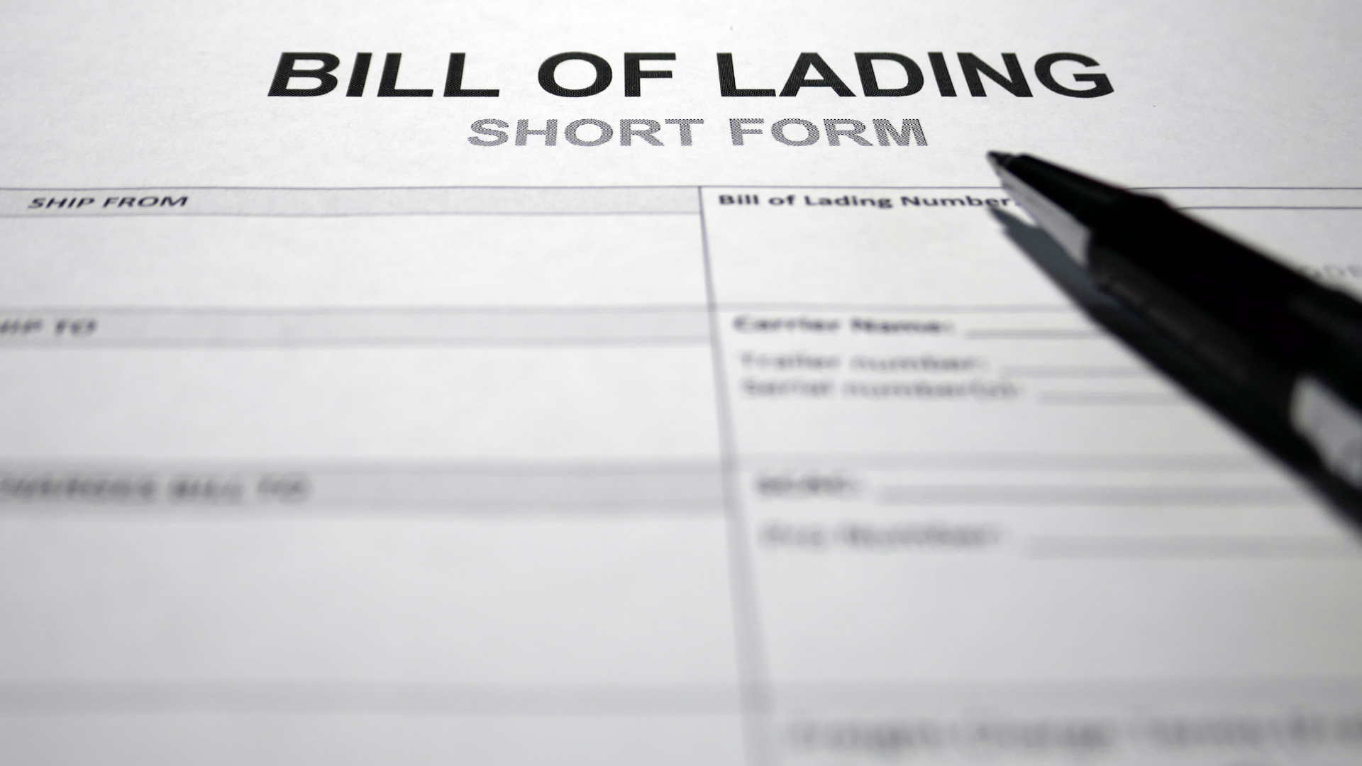 What Is a Bill of Lading?