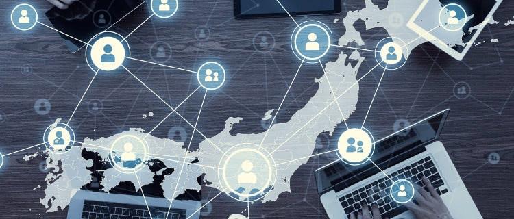 ネットワークでつながる日本のイメージ画像
