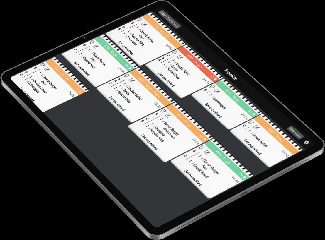 Cashpad KDS - Écran cuisine de gestion des commandes multi-canal