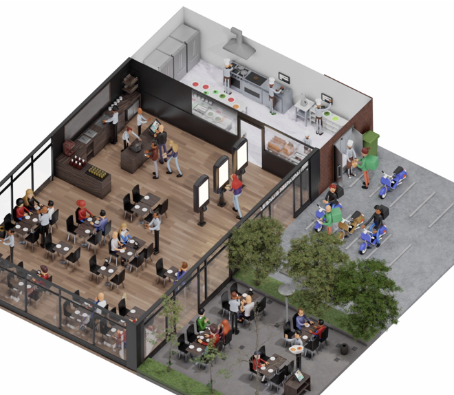 Restaurant géré par Cashpad POS - Caisse Enregistreuse iPad et le système CPS - Cashpad Production System