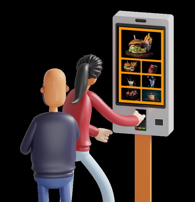 Borne de commande avec Cashpad +
