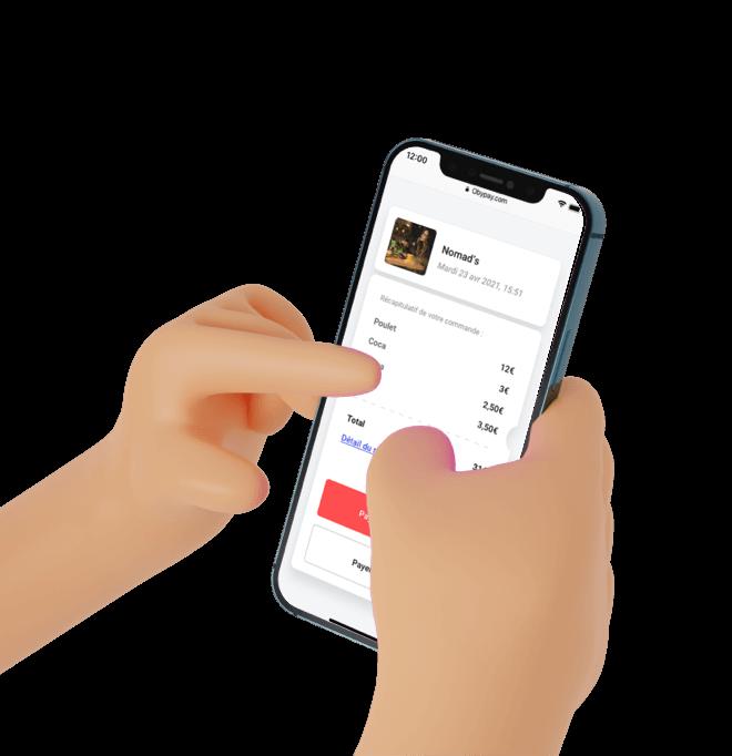Paiement Mobile de la note pour les restaurant avec Cashpad +
