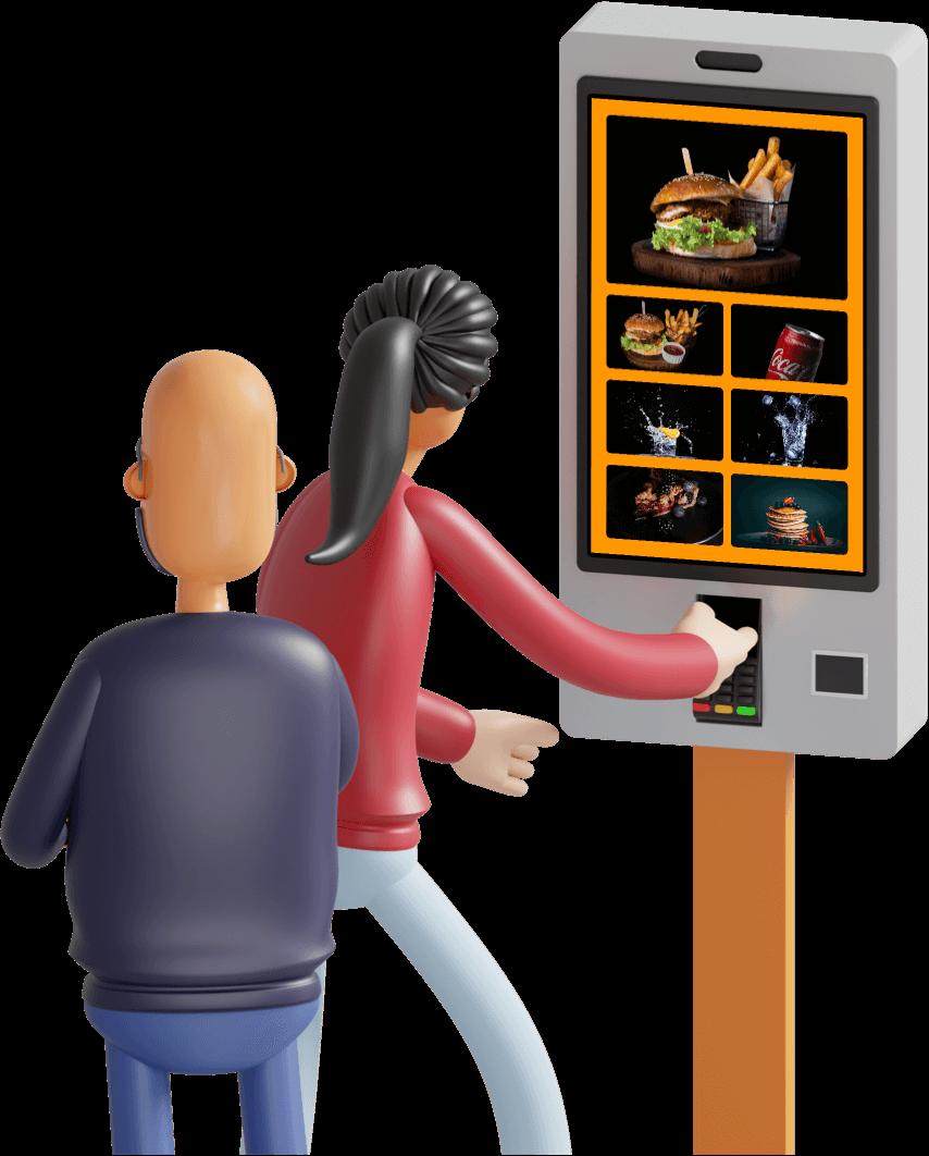 Borne de commande pour les restaurants avec Cashpad +