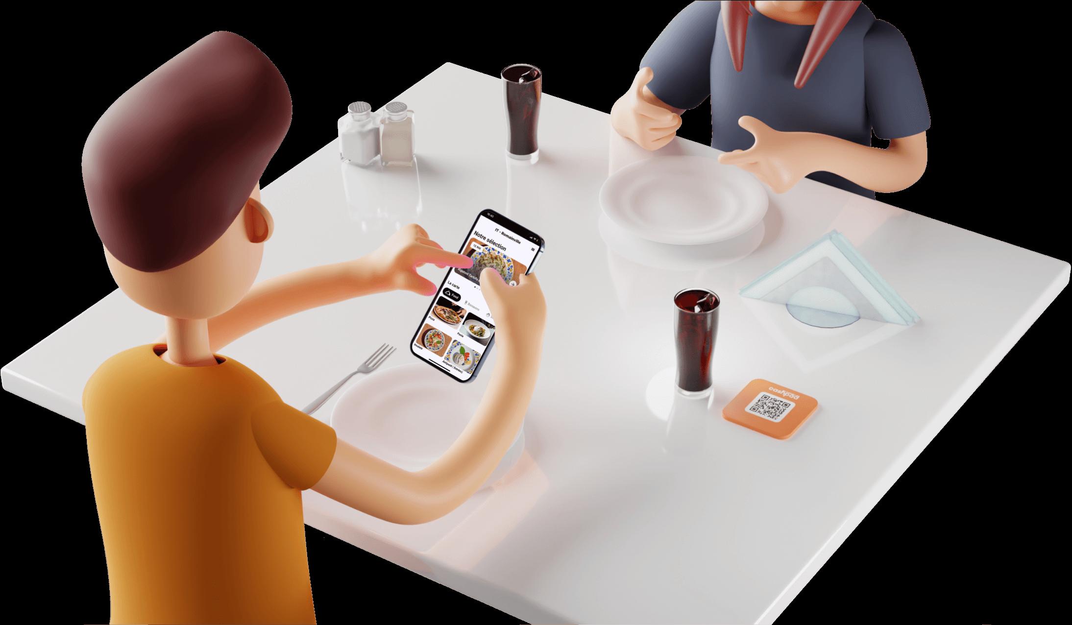 Commande à Table dans le restaurant avec Cashpad +