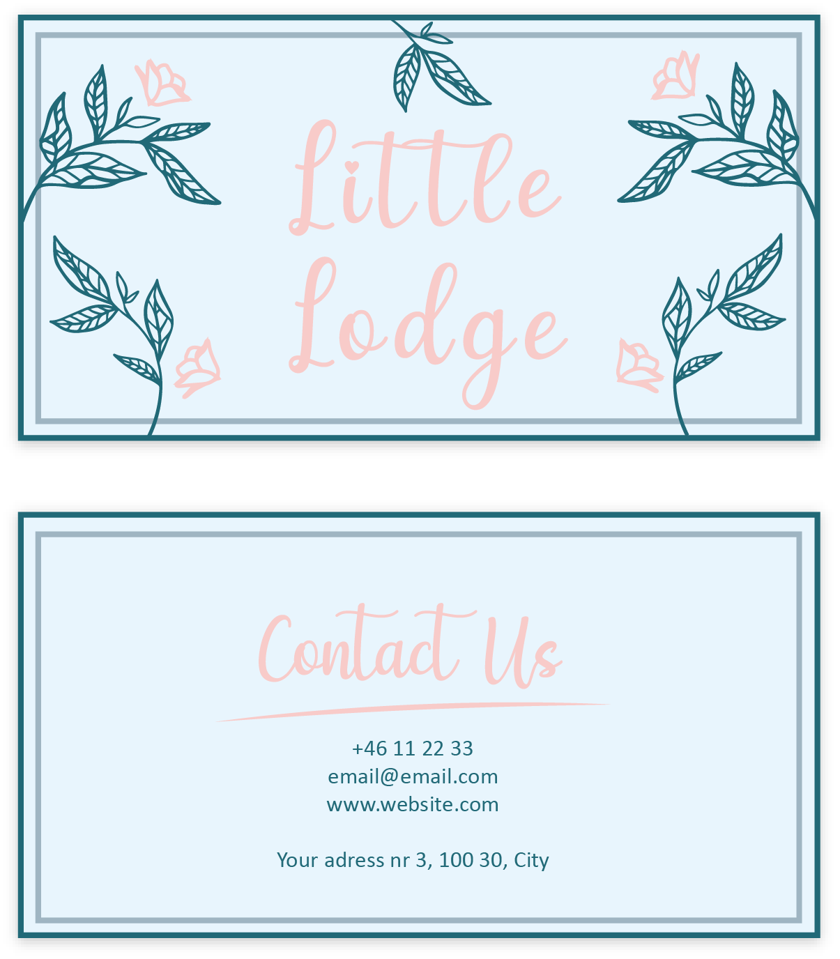 Business card little lodge