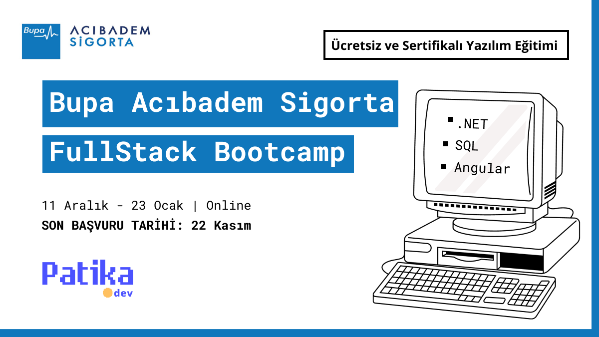 Bupa Acıbadem Sigorta FullStack Bootcamp