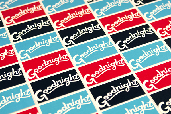 A row of Goodnight Ranch business cards.